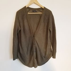 American Eagle Outfitters dark green cardigan